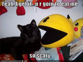 Yeah, I get it...u r goin to eat me  so scary.
