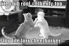 fite club rool #elbenty-too  stop fite furr cheezburger