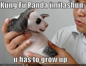 Kung Fu Panda imitashun:    u has to grow up.