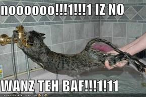 noooooo!!!1!!!1 IZ NO   WANZ TEH BAF!!!1!11