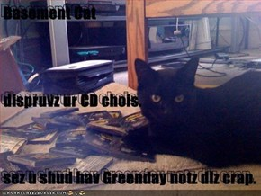 Basement Cat  dispruvz ur CD chois. sez u shud hav Greenday notz diz crap.