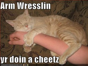 Arm Wresslin  yr doin a cheetz