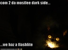 com 2 da mostlee dark side...  ...we haz a flashlite