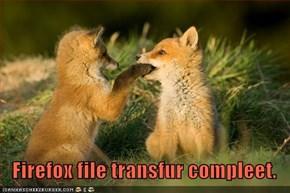 Firefox file transfur compleet.