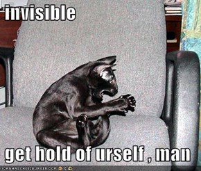 invisible   get hold of urself , man