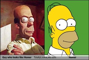 Guy who looks like Homer Totally Looks Like Homer
