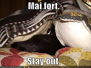 Mai fort.  Stay out.