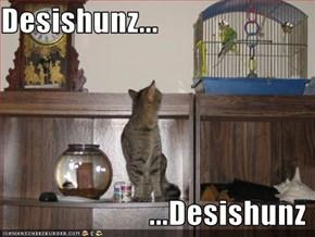 Desishunz...                          ...Desishunz