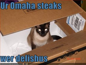 Ur Omaha steaks  wer delishus