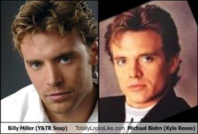 Billy Miller (Y&TR Soap) Totally Looks Like Michael Biehn (Kyle Reese)