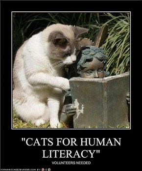 """CATS FOR HUMAN LITERACY"""