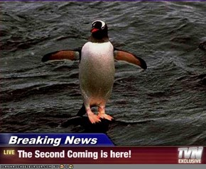 Breaking News - The Second Coming is here!