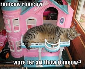 romeow romeow  ware fer art thow romeow?