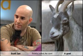 Scott Ian Totally Looks Like A goat
