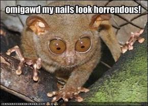 omigawd my nails look horrendous!