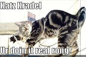 Katz Kradel  Ur doin it real rong!