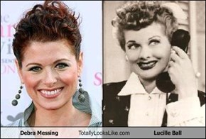 Debra Messing Totally Looks Like Lucille Ball