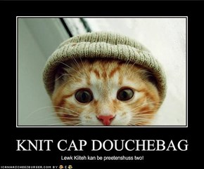 KNIT CAP DOUCHEBAG
