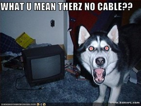 WHAT U MEAN THERZ NO CABLE??