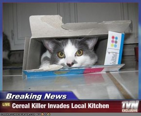 Breaking News - Cereal Killer Invades Local Kitchen