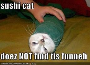 sushi cat  doez NOT find tis funneh