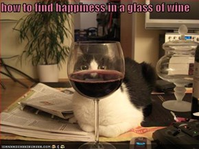how to find happiness in a glass of wine