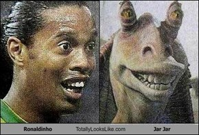 Ronaldinho Totally Looks Like Jar Jar