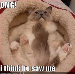 OMG!  i think he saw me