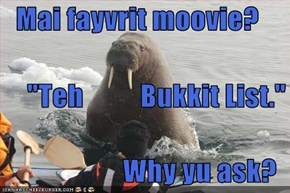 "Mai fayvrit moovie?        ""Teh          Bukkit List.""     Why yu ask?"