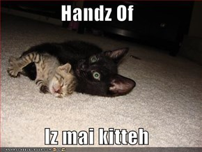 Handz Of  Iz mai kitteh