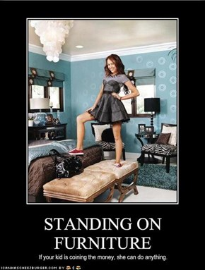 STANDING ON FURNITURE