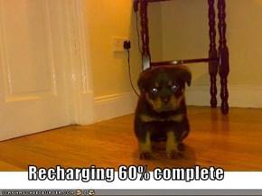 Recharging 60% complete