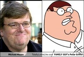 Michael Moore Totally Looks Like FAMILY GUY's Peter Griffin