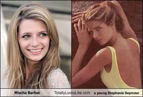 Mischa Barton Totally Looks Like a young Stephanie Seymour