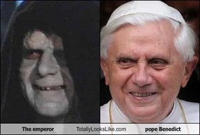 The emperor Totally Looks Like pope Benedict