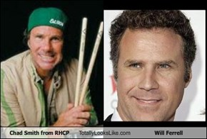 Chad Smith from RHCP Totally Looks Like Will Ferrell