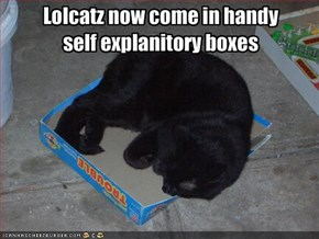 Lolcatz now come in handy self explanitory boxes
