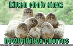 kitteh choir singz     howllollolya chorrus