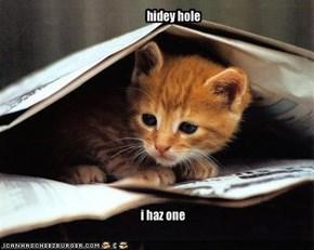hidey hole