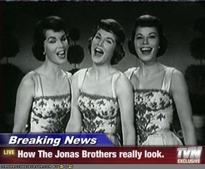 Breaking News - How The Jonas Brothers really look.