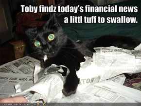 Toby findz today's financial news a littl tuff to swallow.