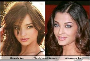 Miranda Kerr Totally Looks Like Aishwarya Rai