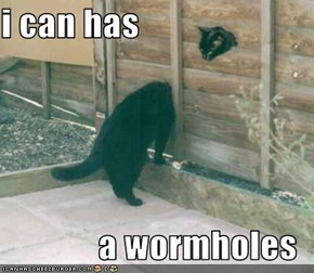 i can has  a wormholes