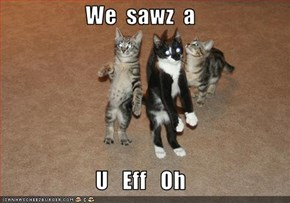 We  sawz  a  U   Eff   Oh