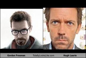 Gordon Freeman Totally Looks Like Hugh Laurie