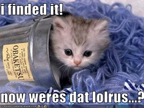 i finded it!  now weres dat lolrus...?