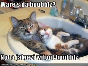 Ware's da buubblz?  Not a jakuzzi wifout buubblz.