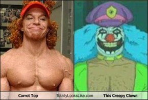 Carrot Top Totally Looks Like This Creepy Clown