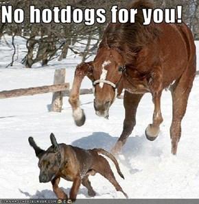 No hotdogs for you!
