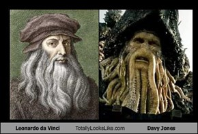 Leonardo da Vinci Totally Looks Like Davy Jones